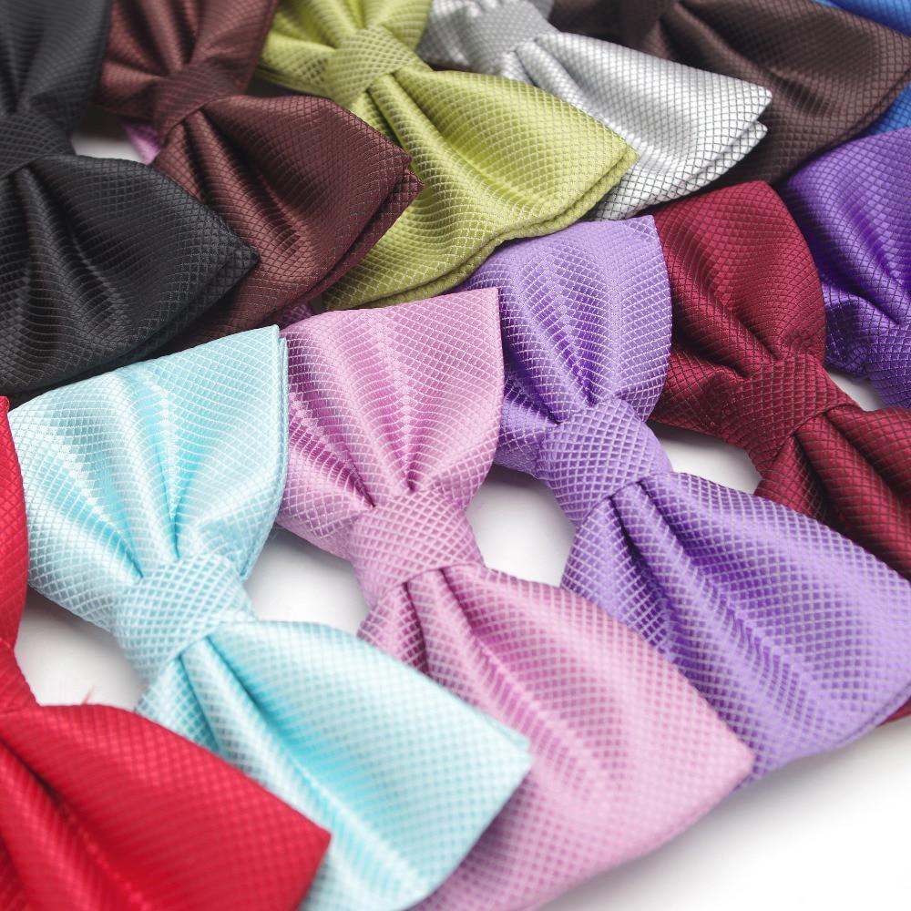 XGVOKH Slips mote Bryllupsfest Menn Kvinner gravata-borboleta Ensfarget Cravat Polyester Bowtie Mannskjole Skjorte gave