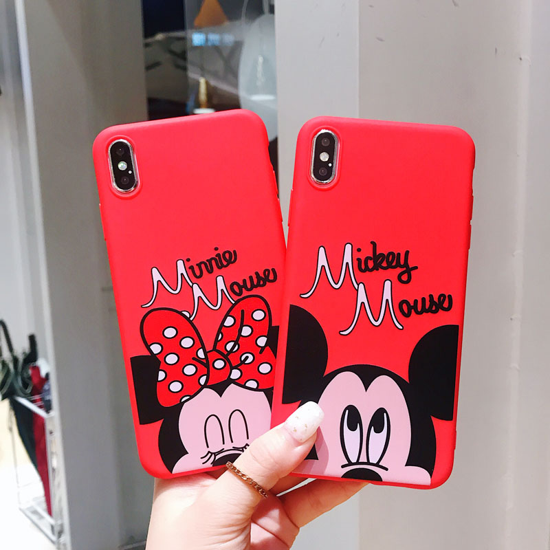For Vivo Y17 Y91 Y91i Y95 V11 V11i Y85 Y81 Y81i Y81S Y67 Y66 Y55 V9 V5 Lite Cartoon Mickey Minnie Mouse Painted TPU Case Cover