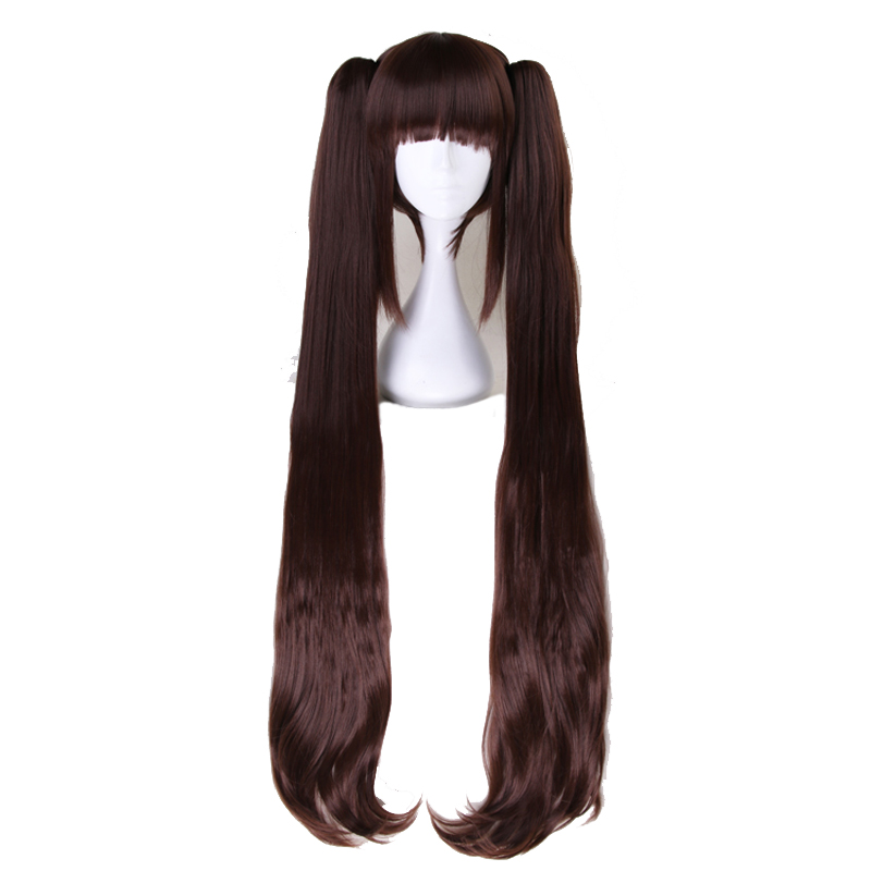 Nekopara Chocolat Vanilla Two Ponytails Wig Cosplay Costume Women Long Heat Resistant Synthetic Hair Halloween Party Wigs