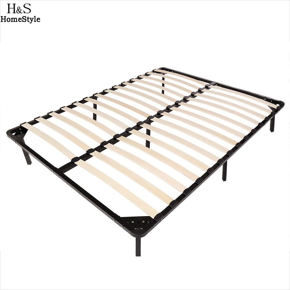 homdox full size metal bed frame wood slats 7 legs bedroom furniture n30 in beds from furniture. Black Bedroom Furniture Sets. Home Design Ideas