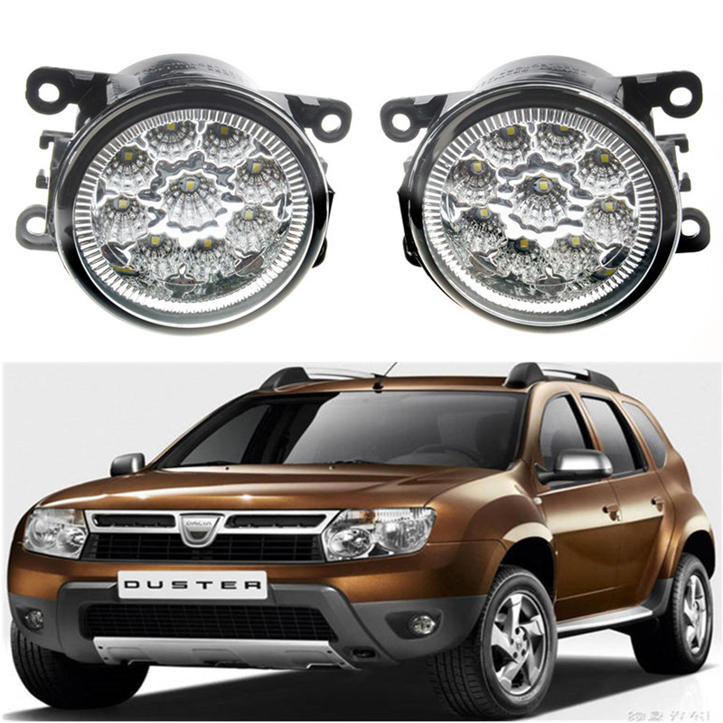 For Renault DUSTER MASTER LATITUDE Fluence L30 Kangoo SCENIC THALIA 1998-2015Car styling LED fog Lights high brightness fog lamp microfiber leather steering wheel cover car styling for renault scenic fluence koleos talisman captur kadjar