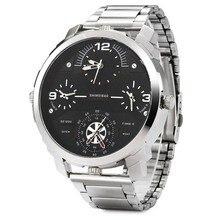 4 Movement work Men's Stainless steel Quartz Wrist Watch Top Brand Luxury Famous Tag Men's Military WatchRelogio Masculino