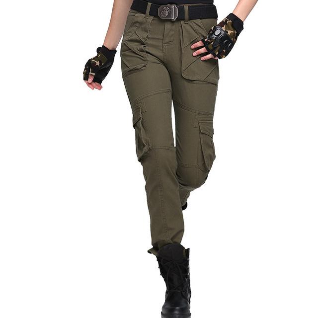 b6e88da47b1 Autumn Casual Women Loose Tactical Trousers Military Cargo Pants Ladies Men Plus  Size Army Green Baggy Pants Female