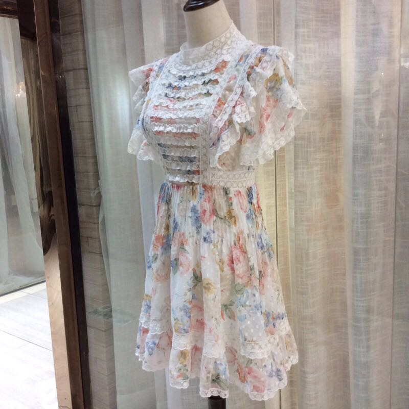 Haute qualité nouvelle mode femmes 2019 robe d'été de luxe célèbre marque conception européenne parti style robe WD05330 - 2