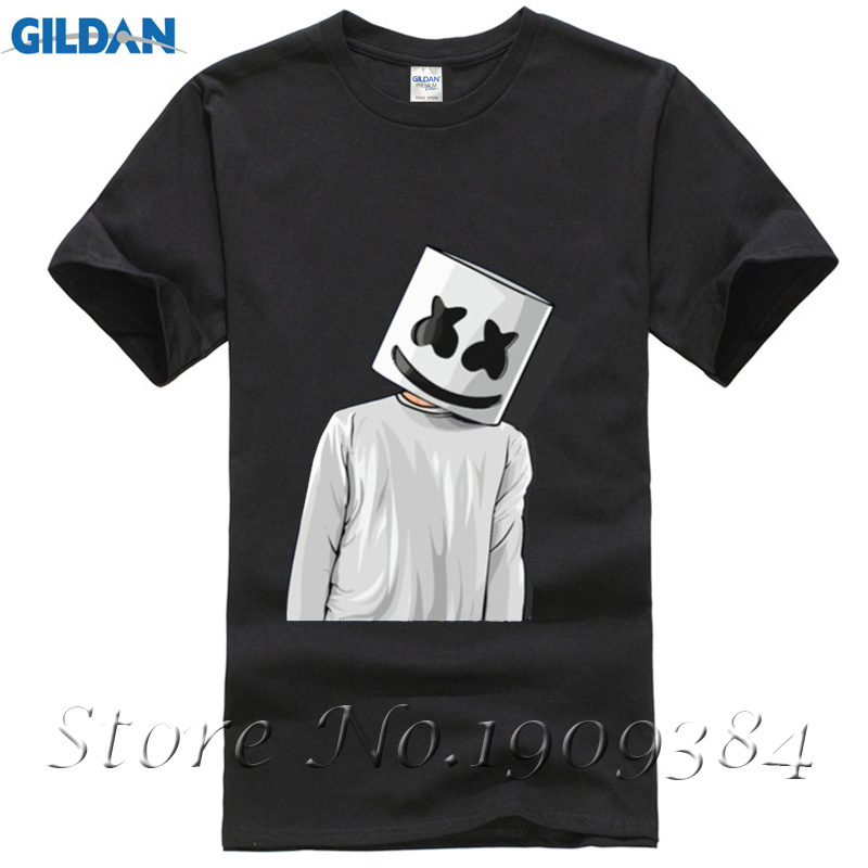 8bbfe3d724 Cheap Price Unique Tee Shirts Marshmello FAN ART mens t shirts Youth Short  T Shirt Crew Neck Hombre Funny Tees -in T-Shirts from Men's Clothing on ...