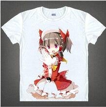 RTXBQU Anime Tou hou Project Unisex cosplay print t shirt summer short sleeve men women
