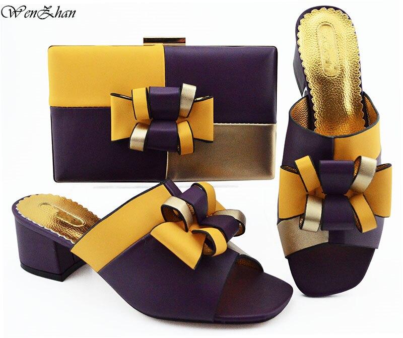 أحدث تصميم الأفريقي الزفاف الأحذية و مجموعة الحقائب أسود مختلط الأبيض المبيعات في النساء مطابقة الأحذية و مجموعة الحقائب للحزب B93 3-في أحذية نسائية من أحذية على  مجموعة 2