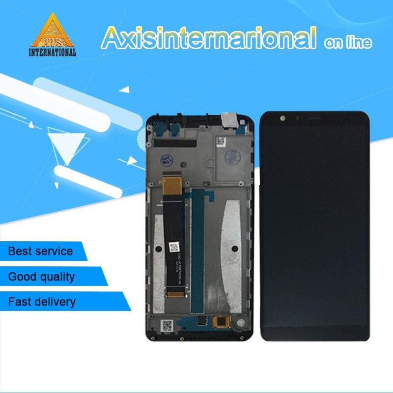 Axisinternational Pour Asus Zenfone Max Plus ZB570TL X018DC LCD écran affichage + tactile digitizer avec cadre Noir livraison gratuite