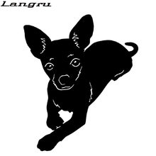 Langru Chihuahua Pet Dog Car Stickers Lovely Vinyl Decal Car Styling Truck Accessories Decorative Jdm(China)