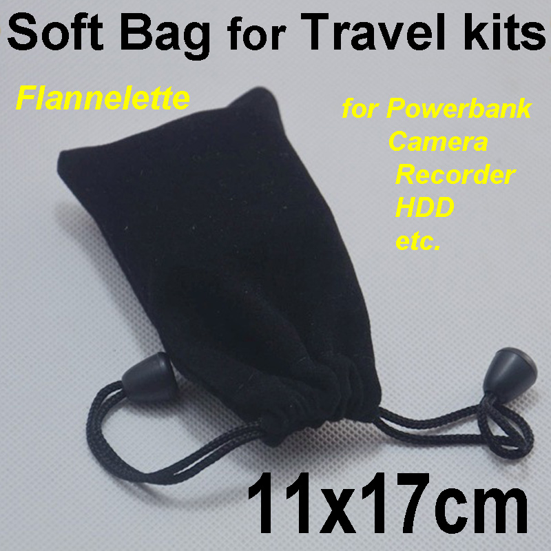 soft storage bag with draw string 11x17cm small lint smart phone case black in travel anti-dirt for iphone samsung cable camera