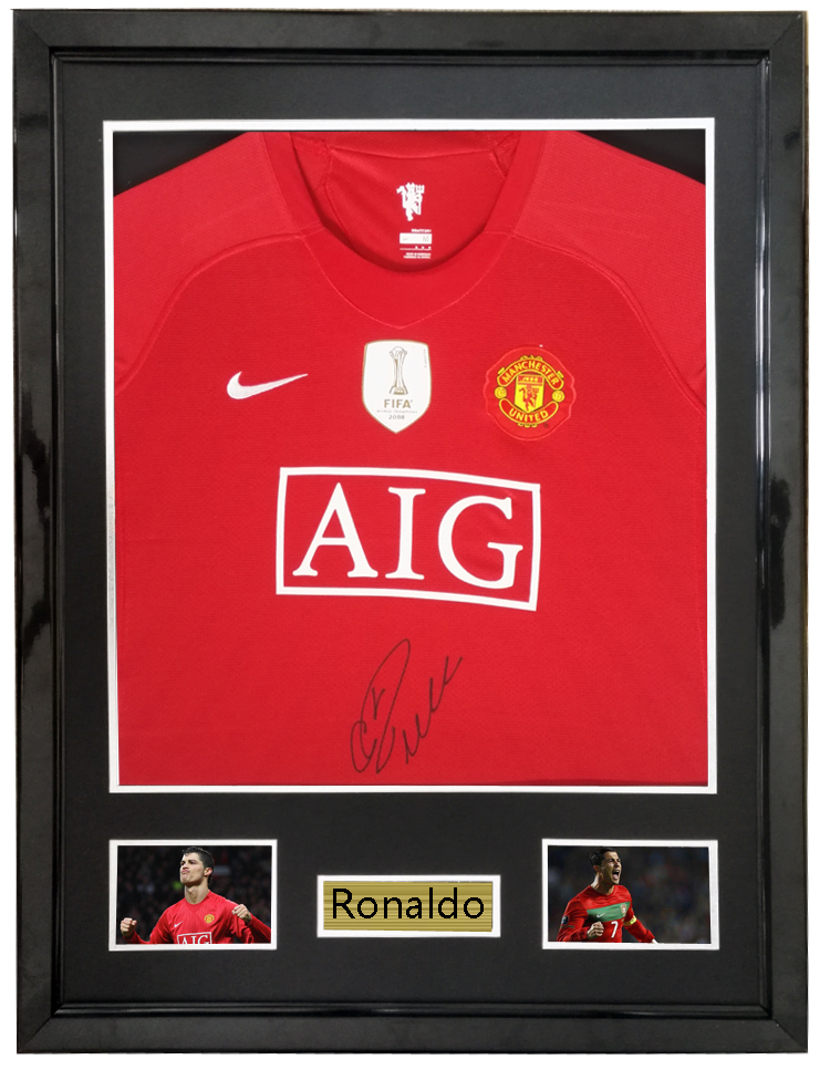 designer fashion dae28 db934 US $825.0 |Aliexpress.com : Buy Ronaldo signed autographed soccer shirt  jersey come with Sa coa framed from Reliable Frame suppliers on  starsauthentic ...