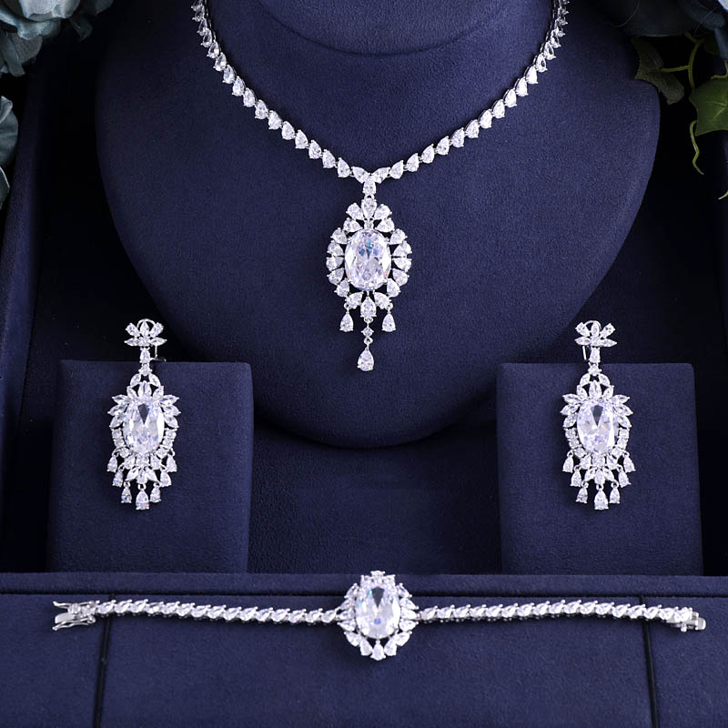 HTB13L5sayLrK1Rjy1zdq6ynnpXaO jankelly Hotsale African 3 pcs Bridal Jewelry Sets New Fashion Dubai Full Jewelry Set For Women Wedding Party Accessories Design