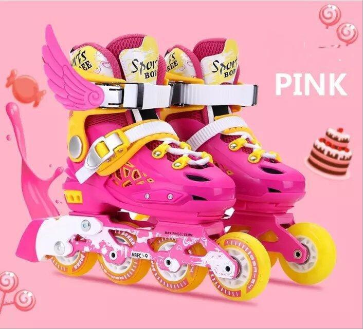 Adustable/дышащие детские удобные анти-абразивной коньки обувь классические наборы Встроенные роликовые коньки обувь с siez S/ m/L ...