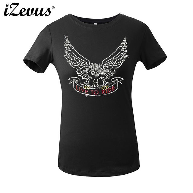 3df1e985 Design Your Custom Transfer Rhinestone Tshirts Eagle Bird Short