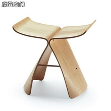 цены Home Furniture/Ottoman/ Butterfly Stool/chair/wooden stool/footstool/modern design/home decor/Free Shipping
