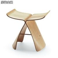 Modern tasarım Ev Mobilya kontrplak Sandalye Osmanlı Kelebek Tabure Ceviz ve Doğa/Ücretsiz Kargo
