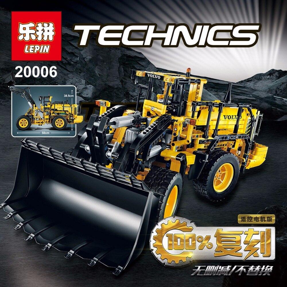 LEPIN 20006 technic series legoing L350F wheel loader Model Building Kit Blocks Bricks Educational Kids Compatible with 42030 недорого