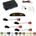Car LED Display 4 Sensor Parking Reverse Backup Radar System Black Silver Blue Gray Wihte Red Gold Yellow Orange Green  #CA887