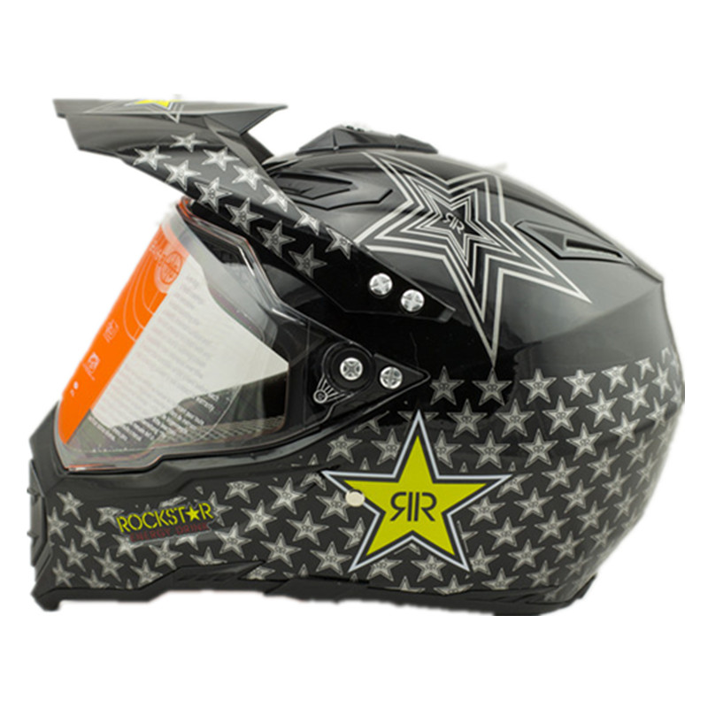Dirt Bike Helmet With Visor >> New Arrival Visor Windproof Rockstar Helmets Casco Casque Capacete