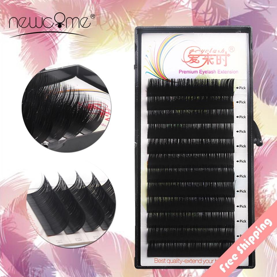 4ec90da0a91 NEWCOME BCD Curl All Size Silk 3D Faux Mink Individual Eyelash Extension  Natural False Fake Eyelashes Lash Cilia