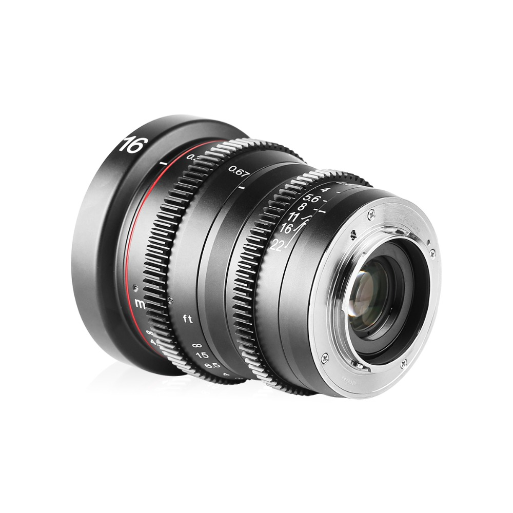 Image 3 - Meike MK 16mm T2.2 Manual Focus Aspherical Portrait Cine Lens for Micro Four Thirds (MFT, M4/3) Mount Olympus Panasonic-in Camcorder Lenses from Consumer Electronics