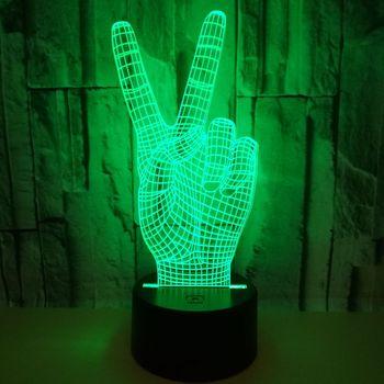 נצחון המחווה Creative 3d ראיית סטריאו מנורת Led דקורטיבי בודד שולחן מנורת חדר שינה ליד מיטת מנורת שולחן