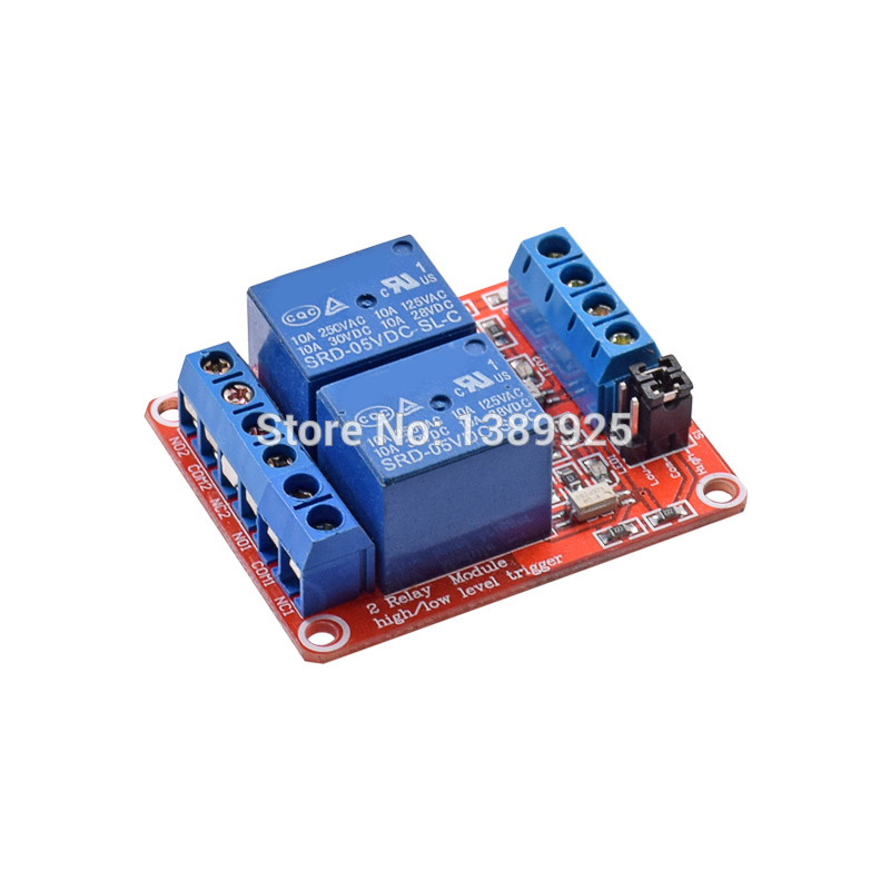 20pcs/lot 5V Relay Module With Optical Coupling Isolation Support High And Low Level Trigger Two-way Relay Module 2 - Channel