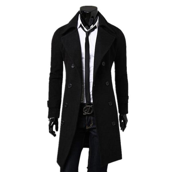 Popular Long Trench Men Coat-Buy Cheap Long Trench Men Coat lots ...