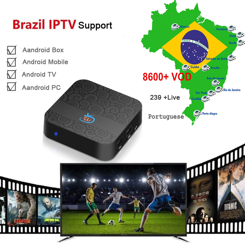 US $12 8 |3 Months Brazil IPTV APK Subscription support android box /mobile  /tv /pc with live + vod +playback special for Brazil-in Set-top Boxes from