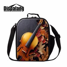 Dispalang Fashion Violin Lunchbag For Women Portable Insulated Lunch bag Cooler Bags Bento Lunch Box Food Storage Container Bags(China)