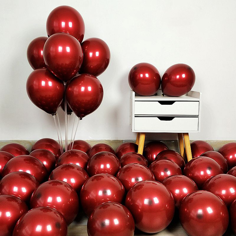 20pcs/lot 12inch Cherry red latex balloon Wedding Birthday Supplies Party Balloon Arch Holiday Decoration Helium balloon