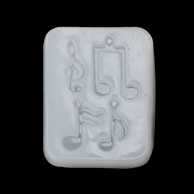 Musical Note Pendant Silicone Mold Resin Jewelry Fondant Cake DIY Mould Tools