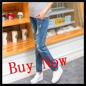 82eda64c6adb2 2015 new adjustable maternity skinny jeans pregnant woman belly pants  abdominal trousers belly pants Pregnancy Jeans pants