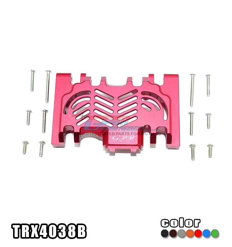 TRAXXAS TRX-4 82056-4 Aluminum Alloy Wave Box Chassis Cobweb Structural Hollowing Design Dissipate Heat- Piece TRX4038B m elices structural biological materials 4