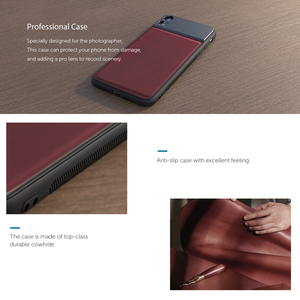Image 4 - APEXEL 17mm Thread Phone Case Professional For Mobile Lenses Aluminum Alloy+Leather Phone Case for iPhone Samsung Huawei xiaomi