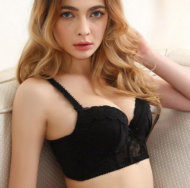 Women Intimates Set Cute Japanese Bra Brief Sets Black and White Lace Super  Push Up Pad Bras for Girl Underwear Bra Set 34B 36C 0381083e2