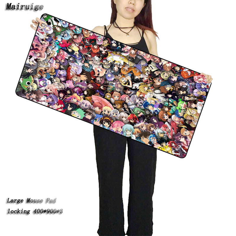 Mairuige All Anime One Piece Large Gaming Mouse Pad Lock edge Keyboard Pad Desk Mat Table Mat For Computer Laptop Lol Gamer