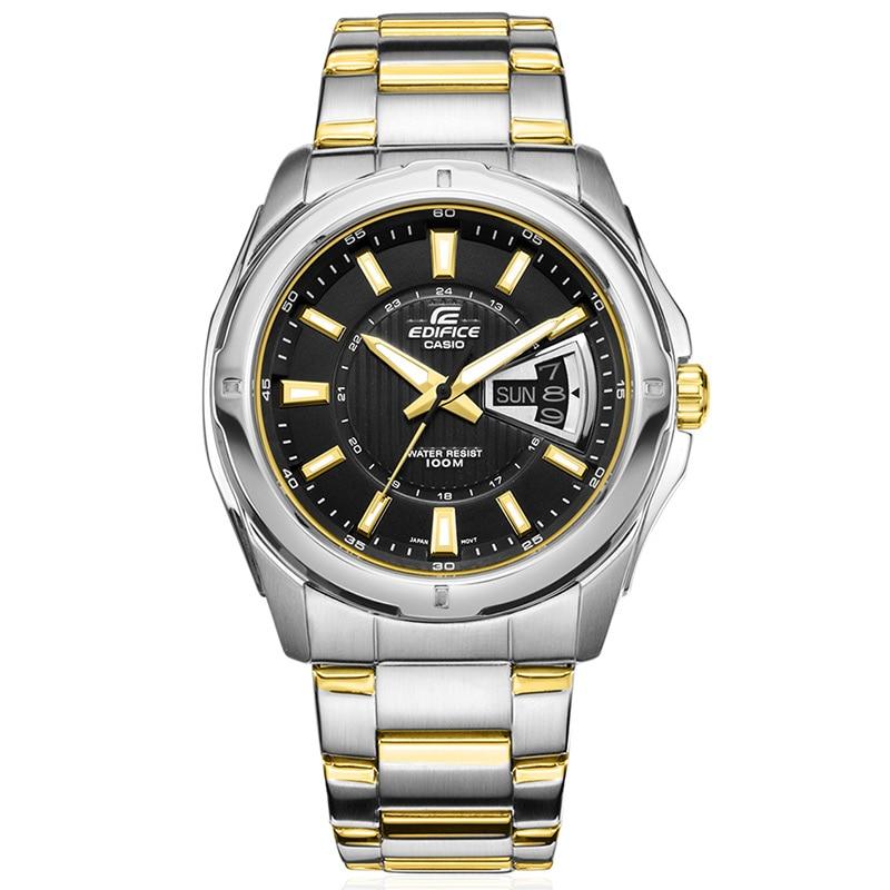 Casio Edifice Watch Quartz Wrist Watch Business men's Watch Top Fashion Brand table Clock EF-129D-1A Relogio Masculino gift box цена и фото