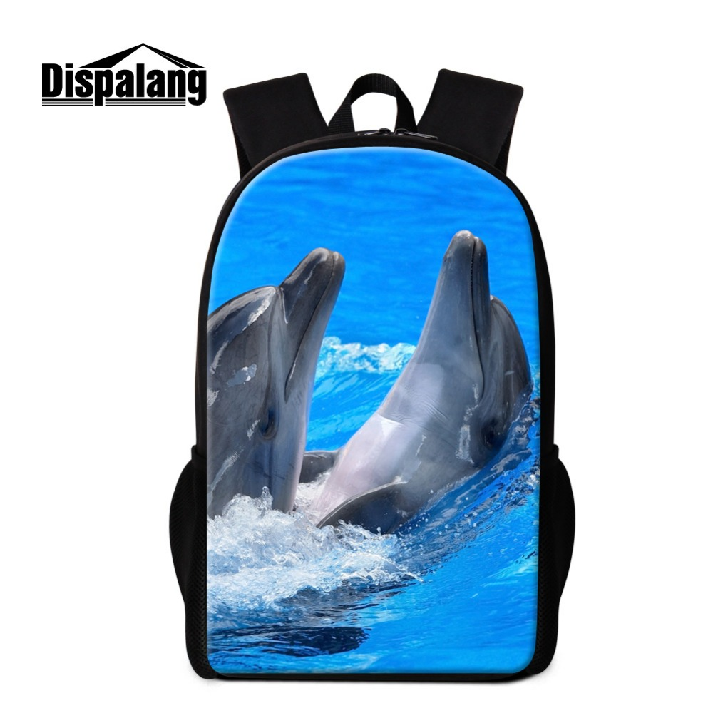 Animal School Backpacks for Children Cute Bookbags for Teen Girls Schoolbag Pattern Dolphin Lightweight Back Pack Bagpack kids