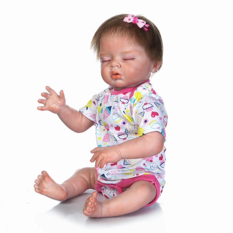 NPK DOLL Handmade Reborn Dolls 55 CM Realistic Soft Silicone Vinyl Baby Dolls BeBe Reborn brinquedos For COLLECTION  Gift handmade chinese ancient doll tang beauty princess pingyang 1 6 bjd dolls 12 jointed doll toy for girl christmas gift brinquedo