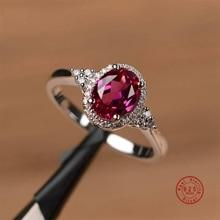 Горячая 925 пробы Серебряное Сверкающее красное сердце стекируемое кольцо микро проложенный Кристалл CZ для женщин подарок на день Святого Валентина модное ювелирное изделие