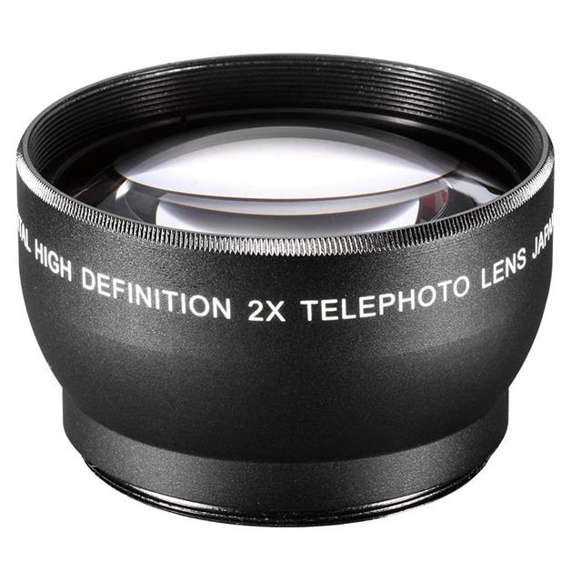 58MM 2X Digital High Definition eleconverter Telephoto Lens for DSLR Camera Canon Nikon with 58mm Thread Lens