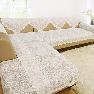 White Lace Fabric Sectional Sofa Cover Sofa Towel Tablecloth Home Decoration