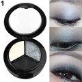 3 Colors Eyeshadow Natural Smoky Cosmetic Eye Shadow Palette Set Beauty Make Up 09WG