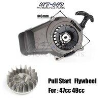 Aluminum Alloy Pull Start + Flywheel for 47cc 49cc Mini Moto Scooter Kid Dirt Pocket Bike Quad ATV Minimoto Motorcycle
