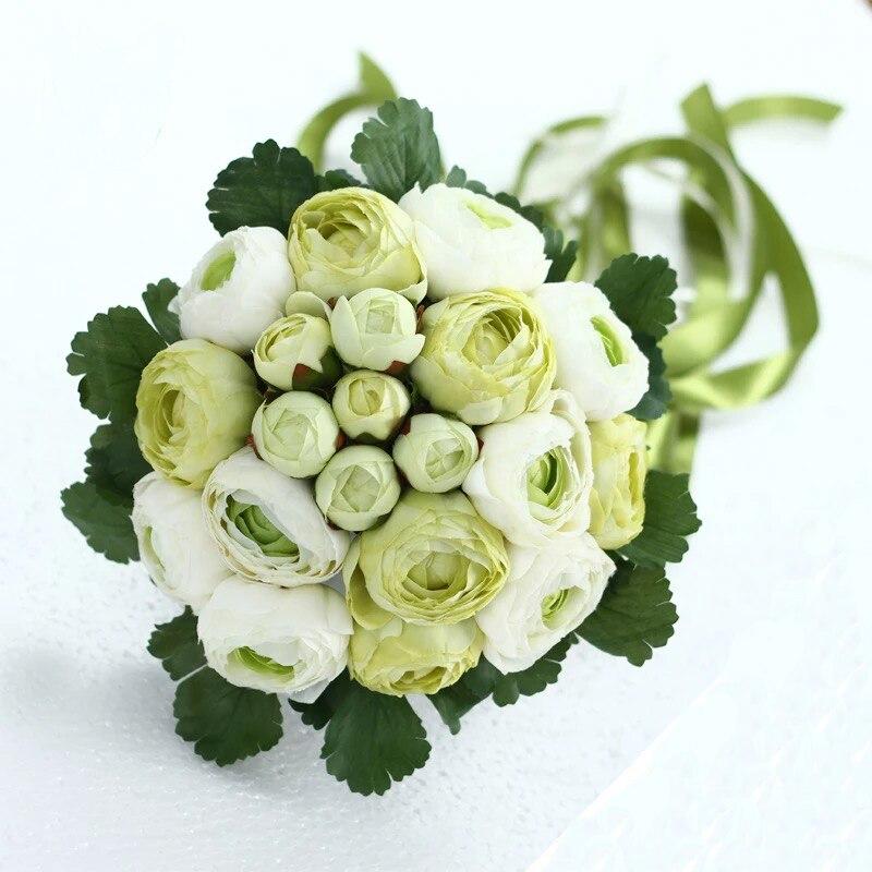 Rose Flowers Bridal Wedding Bouquets 20 Handmade Flowers Wedding - Bruiloft accessoires - Foto 5