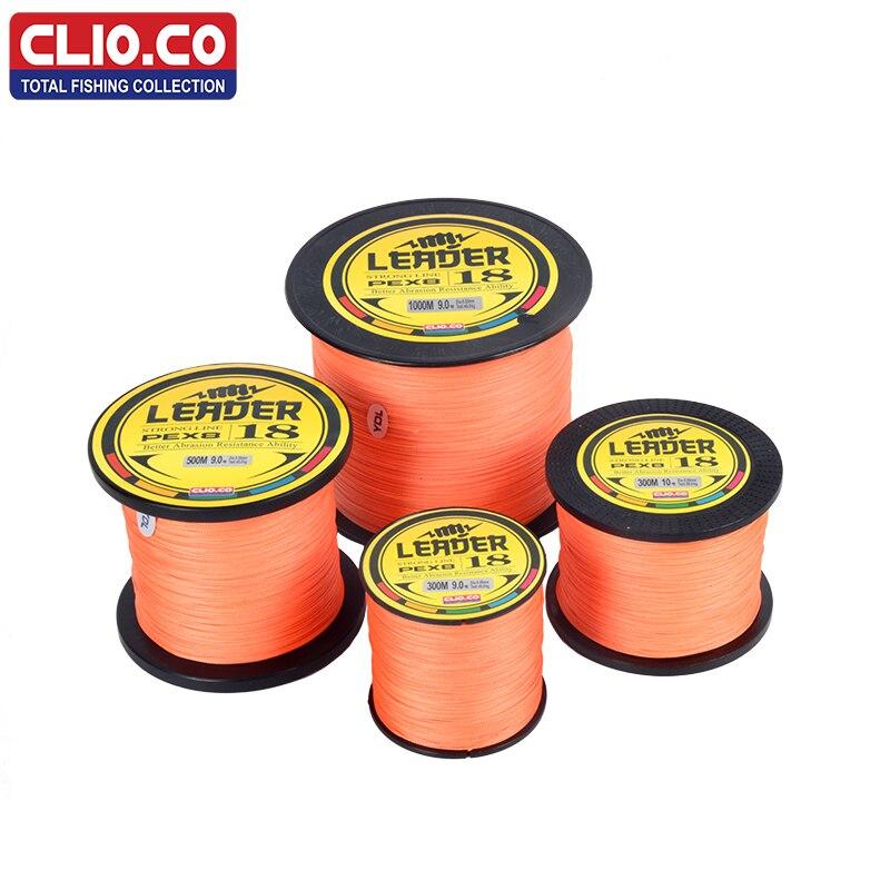 CLIO.CO HOT SALE 300M 500M 1000M Japan multifilament orange PE Fishing Line 10-300LB 0.12-1.2mm fly fishing line pesca