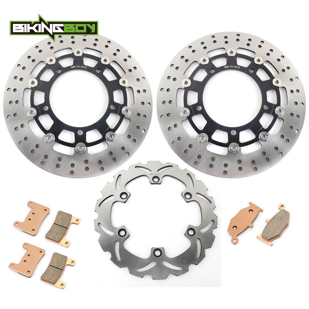 BIKINGBOY for SUZUKI GSX1300R Hayabusa 08 09 10 11 12 GSXR 1300 Motorcycle Front Rear Brake Discs Disks Rotors Pads Replacement