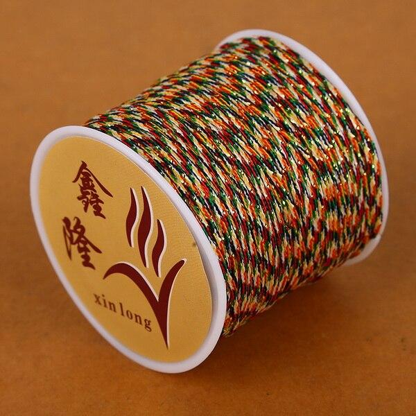 50 метров 0,8 мм нейлоновый шнур, китайский Узелок, шнур макраме, браслет, плетеный шнур, бисероплетение, сделай сам, ювелирный шнур, нить - Цвет: as the picture shows