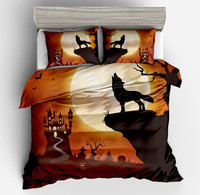 Night Guardian 3d yellow Bedding Set black Wolf New Moon Castle Duvet Cover With Pillow cases Could Bed Cover 3 Piece full size